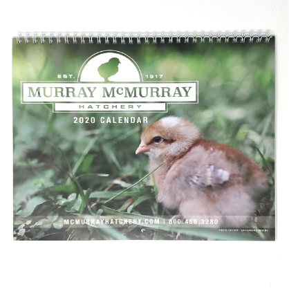 2020 Wall Calendar | Murray McMurray Hatchery