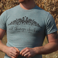 McMurray Hatchery All Things Chicken Blue T-shirt