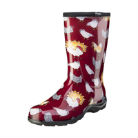 McMurray Hatchery Red Chicken-Print Sloggers Boots