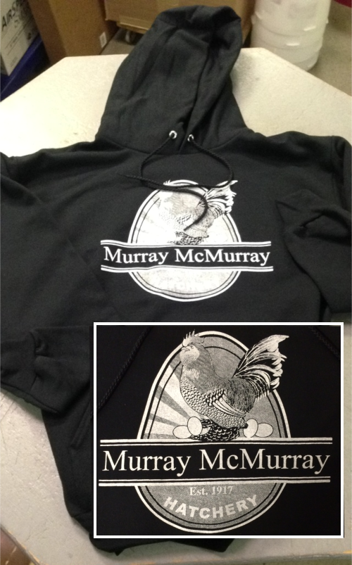 sweatshirt, murray mcmurray hatchery, black, clothing