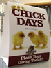 Chick Days Tent cards